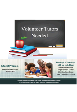 Tutor Volunteers Needed